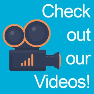 Check out our videos logo