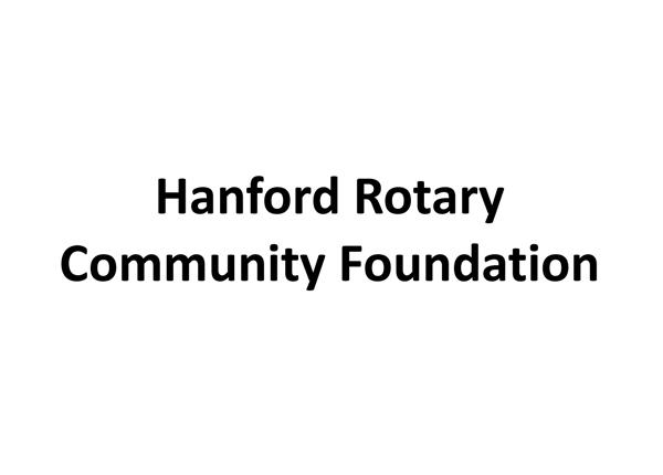 Hanford Rotary Community Foundation logo