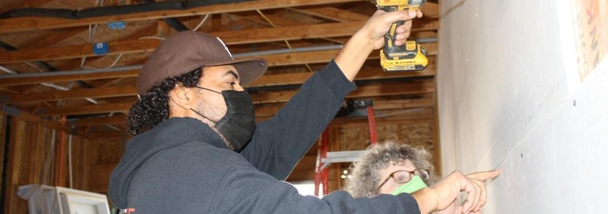 Victor-future homeowner in Hanford-Winter Women Build 2020