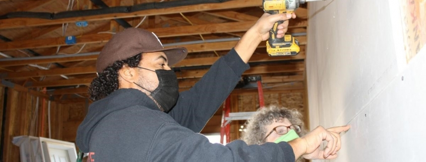 Victor-future homeowner in Hanford-Winter Women Build 2020